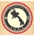 Vintage label-sticker cards of Laos vector image