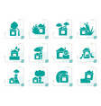 stylized home and house insurance and risk icons vector image vector image