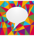 Multicolored origami speech bubble vector image