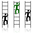 Climbing ladders vector image