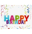 Happy birthday greeting background vector image