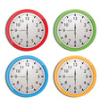 clock set isolated on white vector image vector image