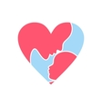 Mother Day heart icon vector image