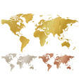 map of the world made of corrugated metal copper vector image