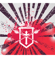 grunge background with crest vector image vector image