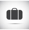 Simple grey suitcase icon vector image