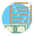 counting money icon vector image