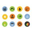 energy icon set vector image