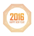 Greeting card Happy New Year 2016Holiday mandala vector image