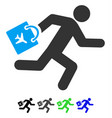late airport passenger flat icon vector image