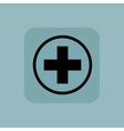 Pale blue medical icon 2 vector image