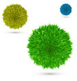 set color fluffy ball on white vector image