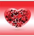 hearts love symbol vector image vector image