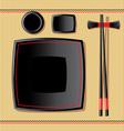japanese tableware vector image