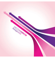 pink arrow strips vector image vector image
