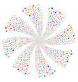 lock fireworks swirl rotation vector image