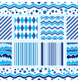 Seamless white-blue pattern vector image vector image