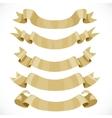 Set of festive golden ribbons for decoration vector image vector image