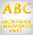 3d golden alphabet vector image