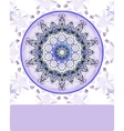Violet vintage pattern Hand drawn abstract vector image