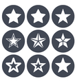 Simple star ions for rating bar vector image