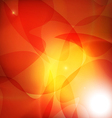 abstract background with orange sun rays vector image