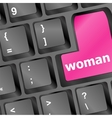 woman word on keyboard button vector image