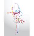 ballet stream vector image