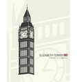Elizabeth tower clock big Ben vector image