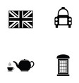england icon set vector image