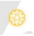 manipura - chakra of human body vector image