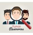 men cartoon human resources search find vector image