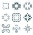 Set frame and decorative element vector image
