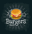 burger include cutlet tomato cheese and salad vector image