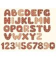 Vintage patchwork alphabet vector image