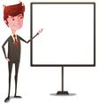 Businessman on Presentation vector image