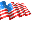 Flags USA Waving Wind and Ribbon vector image