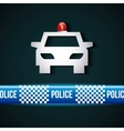 police line design vector image