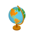 Globe isometric 3d icon vector image