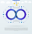 infographic for baby things store with Mobius vector image
