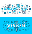 Knowledge and Vision Modern style heading title vector image