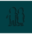 man and woman icon isolated white on the blue vector image