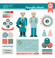 medical infographic elements vector image