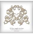 Ornate element for design Ornamental vintage for vector image
