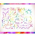 rainbow colors arrow collectio vector image