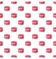 round cardboard box pattern vector image