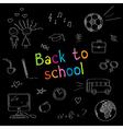 School doodles vector image