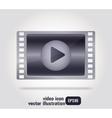 video icon film strip - vector image