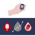 Diabetes Glucometer Icons 04 A vector image