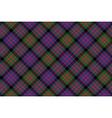 Macdonald tartan kilt fabric diagonal texture vector image